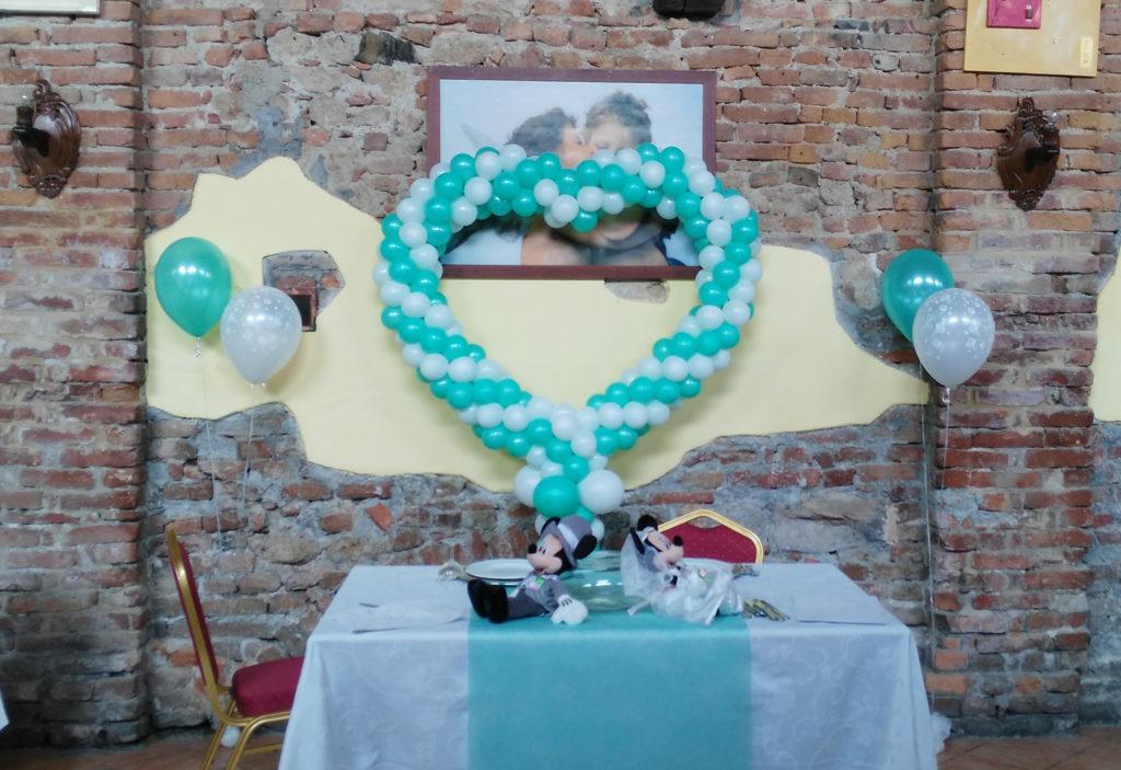 Popolare Allestimenti Palloncini Forma di Cuore per Matrimoni Happy Party YC77