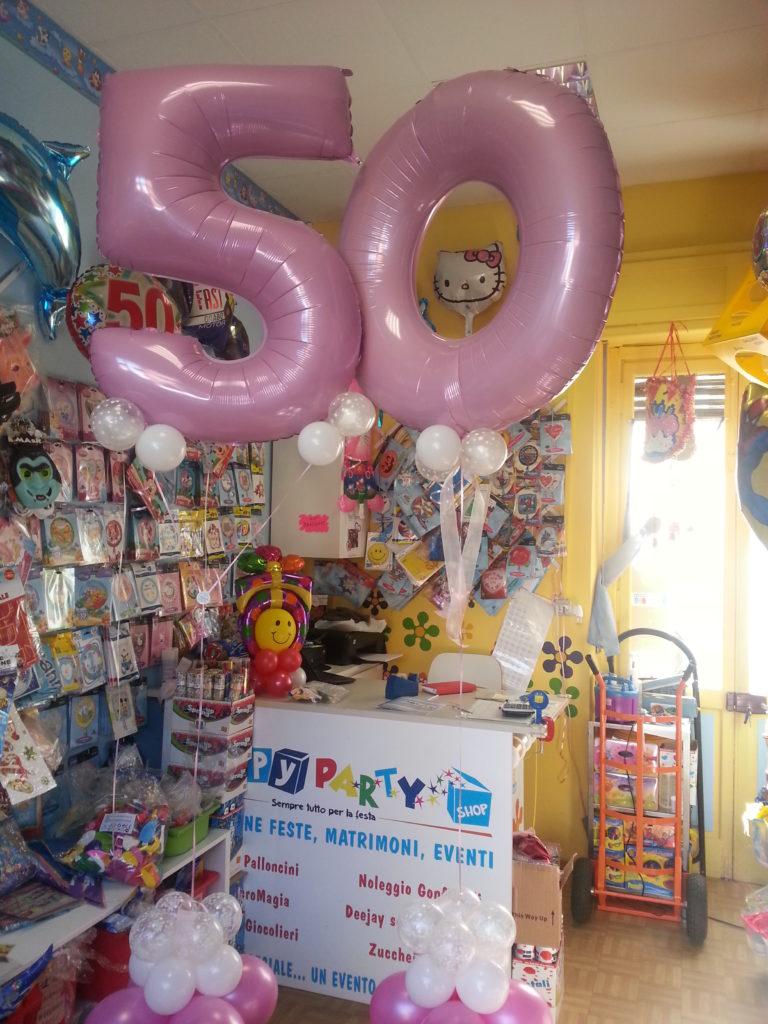 Ben noto Articoli Feste Compleanno - Palloncini 50 Anni Happy Party Shop RN53