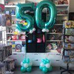 50 anni mylar palloncini 100cm