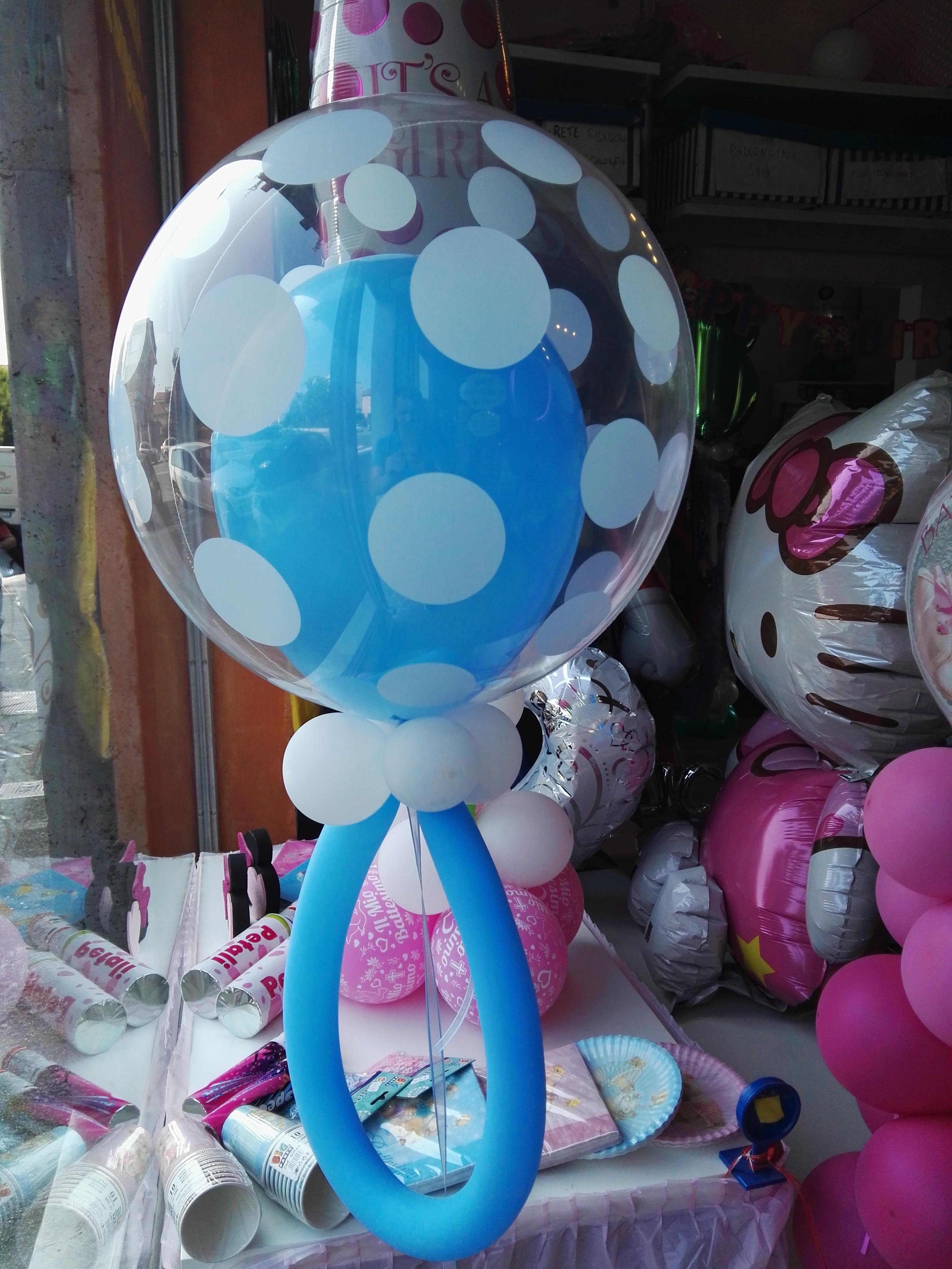 Battesimo happy party shop - Composizione palloncini da tavolo ...