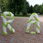 scritte matrimonio palloncini