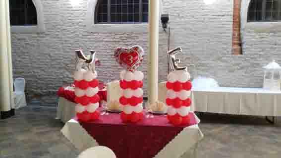 Decorazioni Palloncini Centrotavola per Matrimoni Happy Party