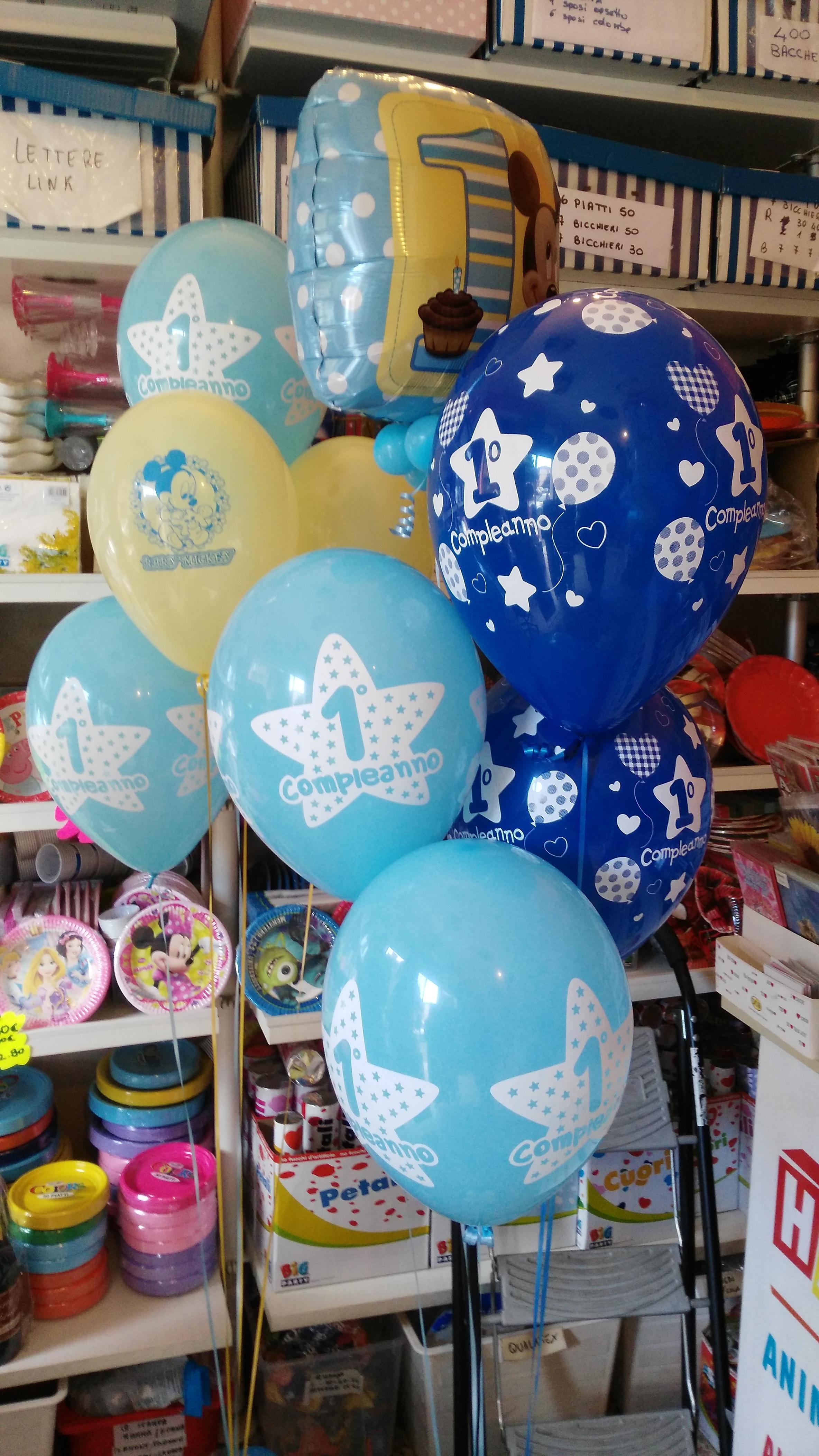 Allestimenti addobbo composizione palloncini 1 anno primo anno - Composizione palloncini da tavolo ...
