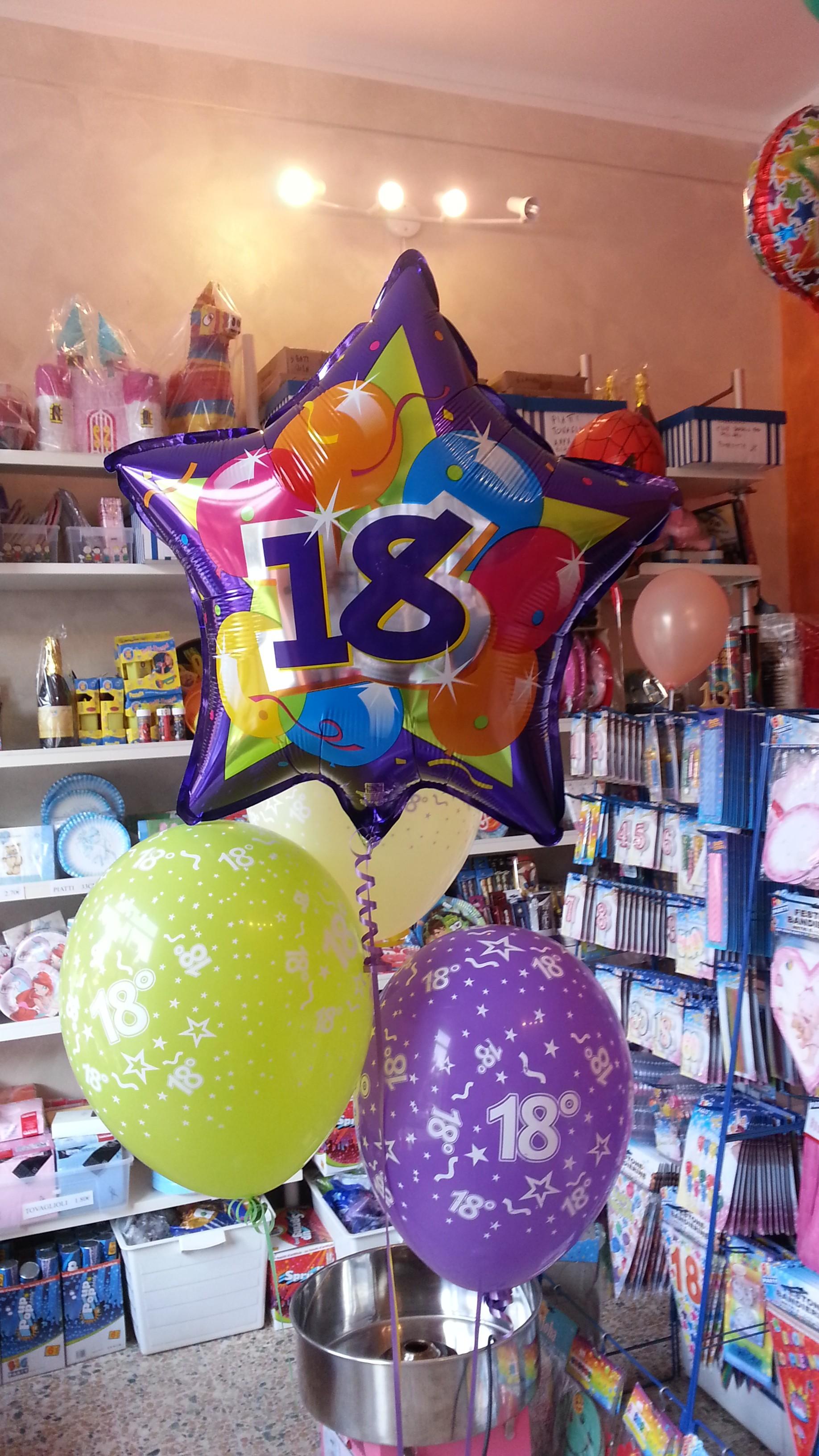 Allestimenti addobbo 18 anni composizione palloncini gadget occhiali 18 anni - Composizione palloncini da tavolo ...