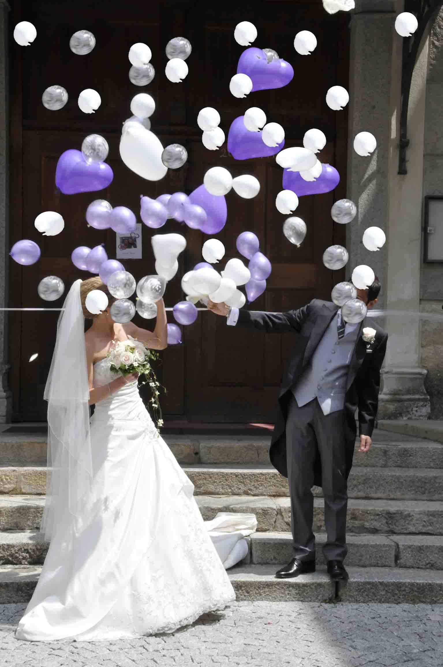 Estremamente Mongolfiera con Palloncini all'interno per Matrimonio NK46