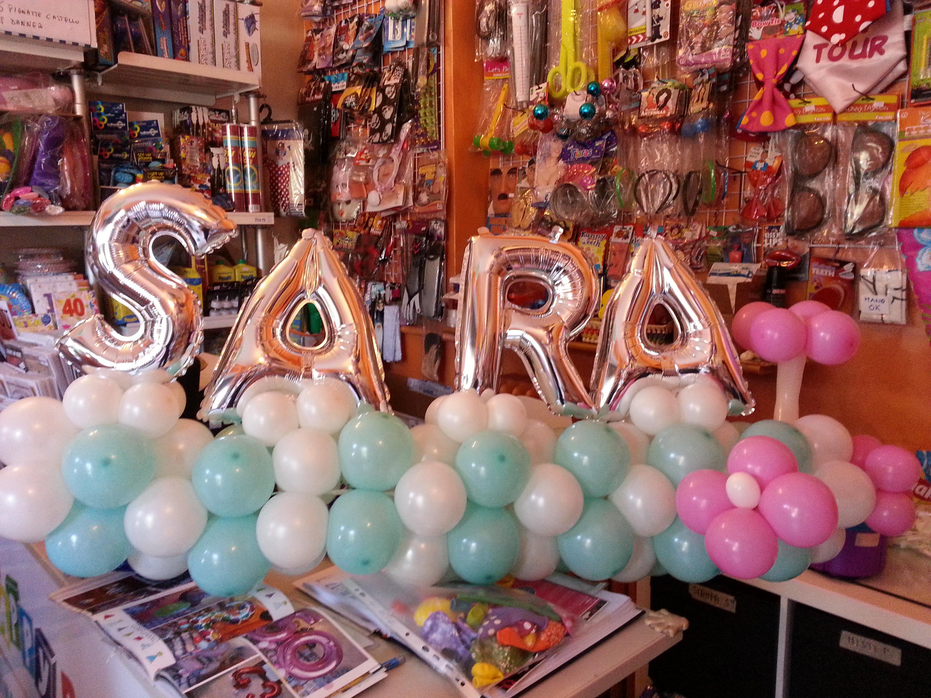 palloncini scritta