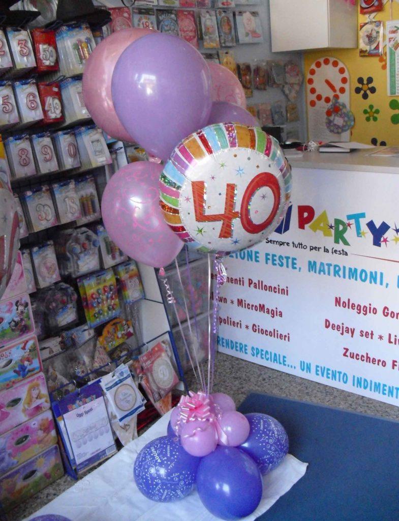 Articoli Feste Compleanno   Palloncini 40 Anni Happy Party Torino