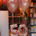 composizione palloncini 50 anni mylar