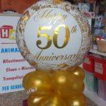 composizione palloncino anniversario 50 anni