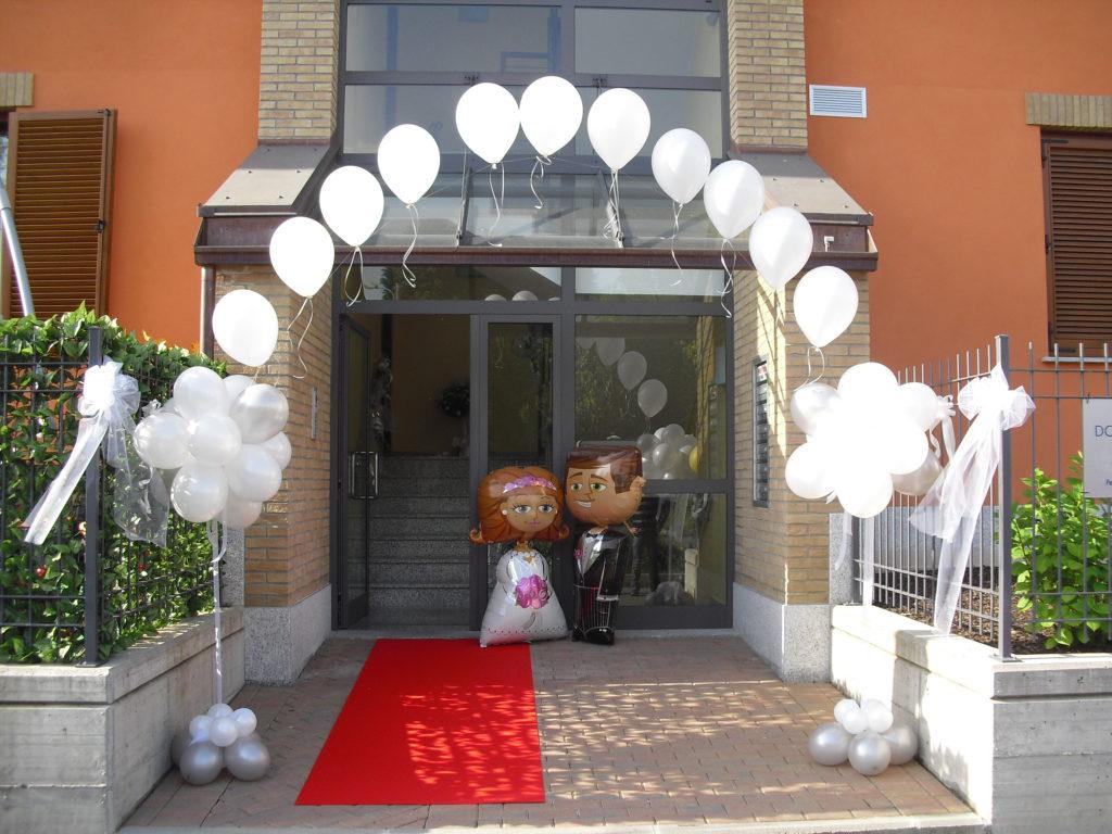 Palloncini sposini mylar airwalker per matrimonio happy party - Decorazioni matrimonio palloncini ...