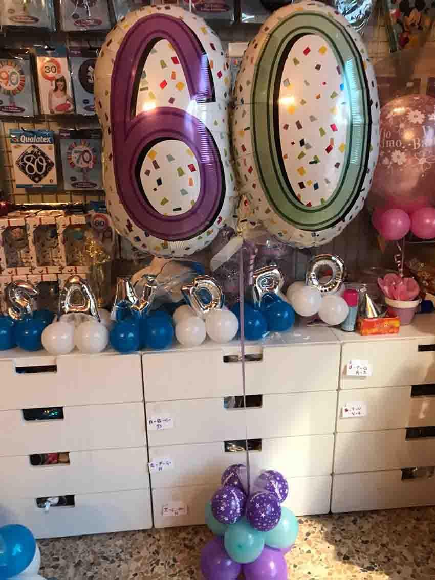 palloncini 60 anni mylar