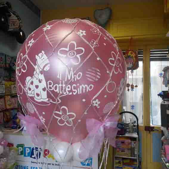 allestimento palloncini-battesimo