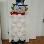 pupazzo di neve di palloncini