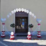 colonne totem palloncini per matrimoni