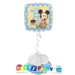 composizione 1 palloncino mylar primo compleanno topolino baby