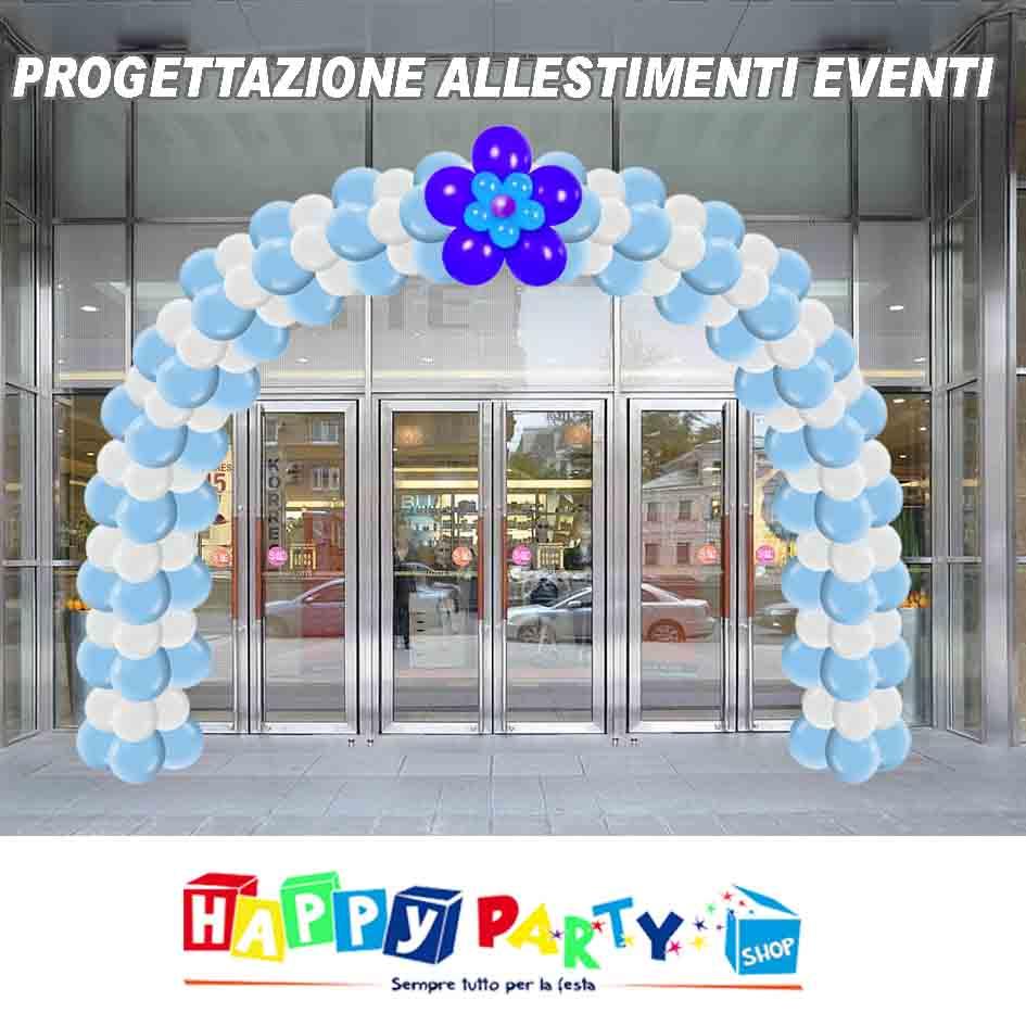 progettazione evento con allestimento arco di palloncini