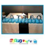 scritta palloncini azzurro 12cm matteo