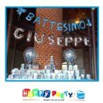 scritta palloncini azzurro 30cm giuseppe