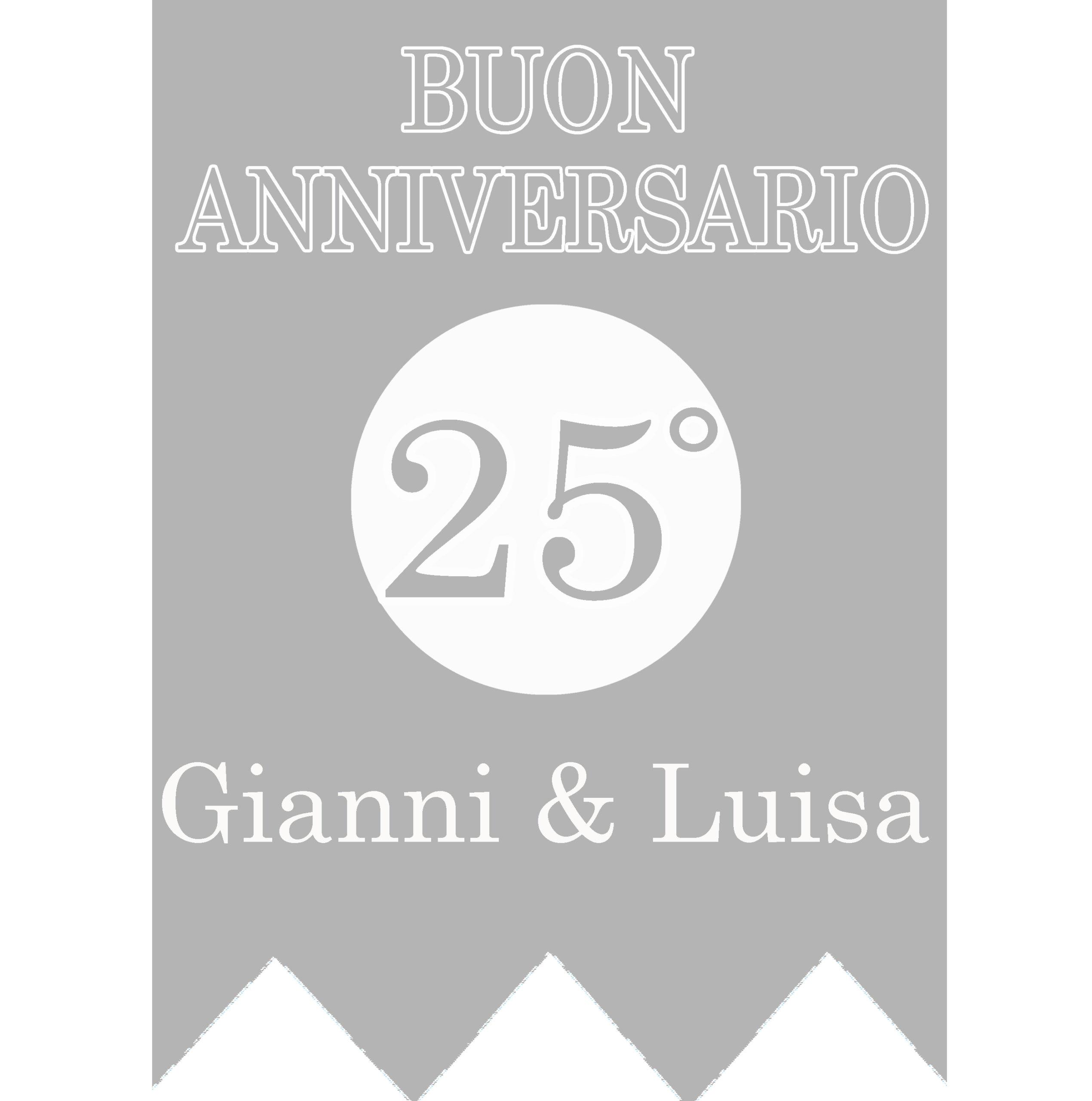 FESTONE PERSONALIZZATO GAGLIARDETTO ANNIVERSARIO 25