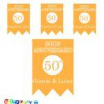 festone personalizzato anniversario 50 anni