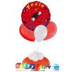Festa Laurea Rossa composizione palloncino toc con 3 lattice ad elio