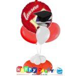 Festa Laurea rossa composizione palloncino e 3 lattice ad elio