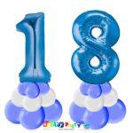 centrotavola palloncini numeri mylar 18 anni blu
