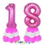 centrotavola palloncini numeri mylar 18 anni fuxia