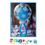 composizione 1 palloncino mylar bubble azzurro