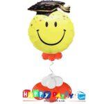 composizione 1 palloncino mylar laurea smile