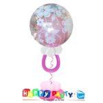 composizione 1 palloncino mylar nascita bubble