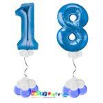 palloncini BASE da terra numeri 100cm 18 anni blu mylar