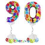 palloncini BASE da terra numeri 100cm 90 anni balloon multicolor