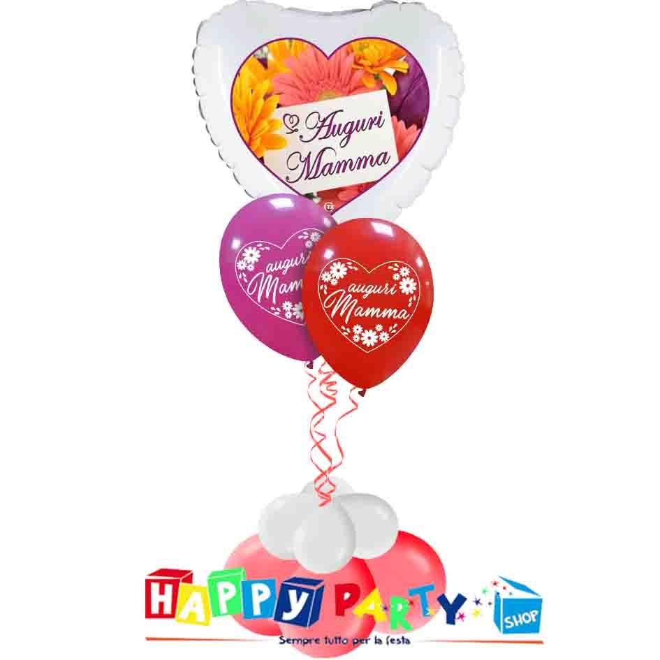 composizione palloncino festa della mamma auguri
