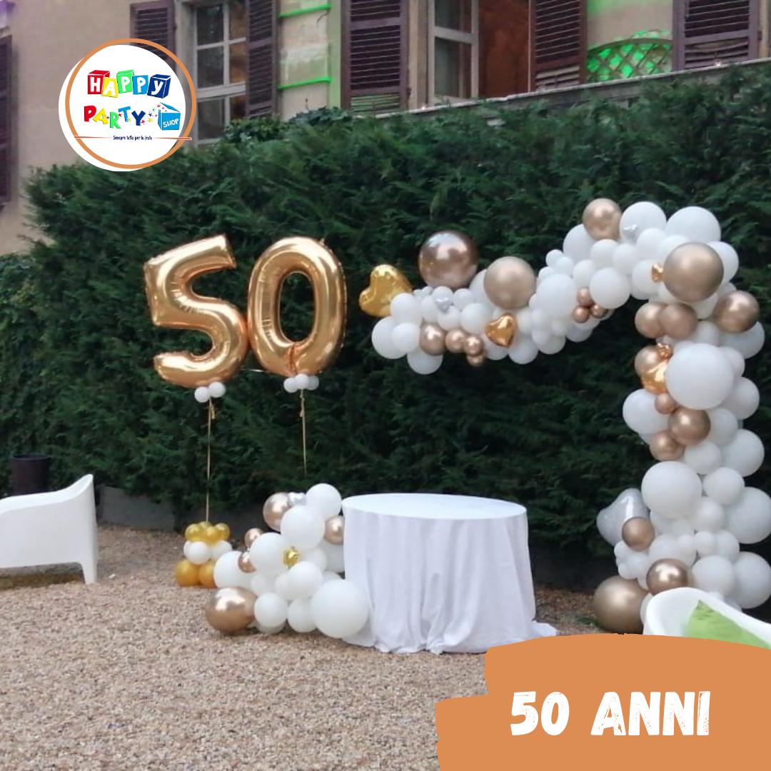 allestimenti palloncini 50 anni