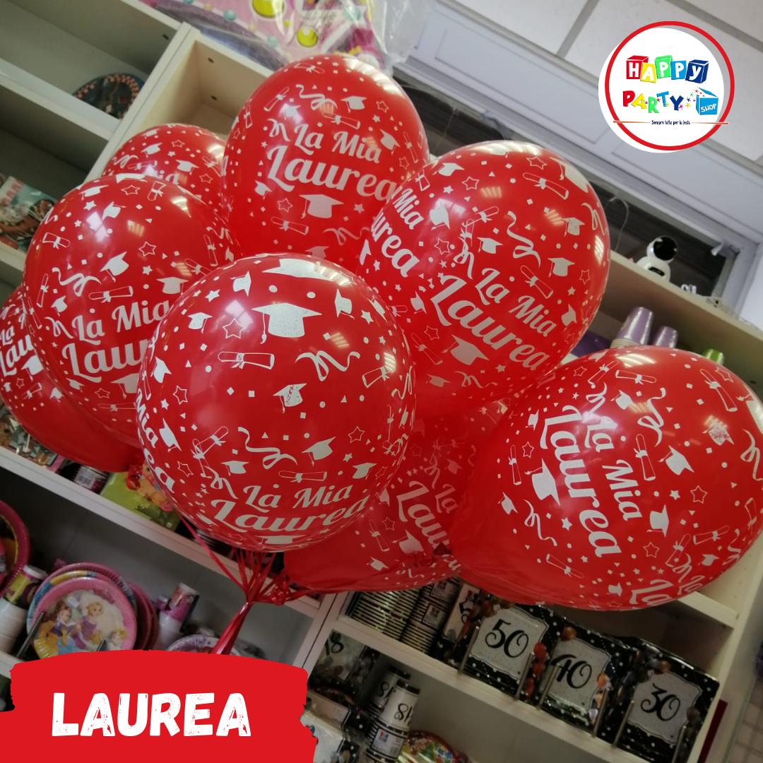 allestimenti palloncini laurea stampati