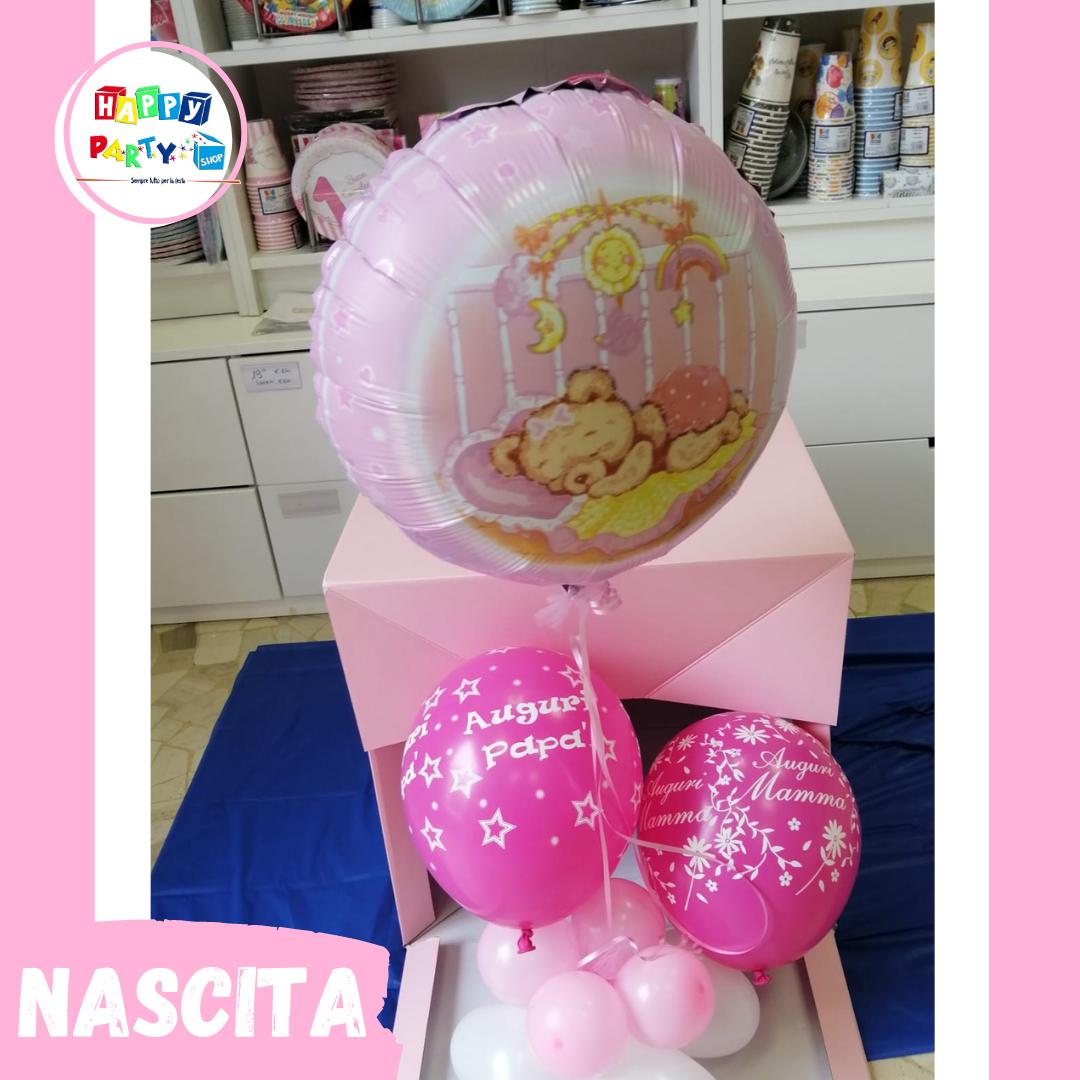 allestimenti palloncini special nascita bimba