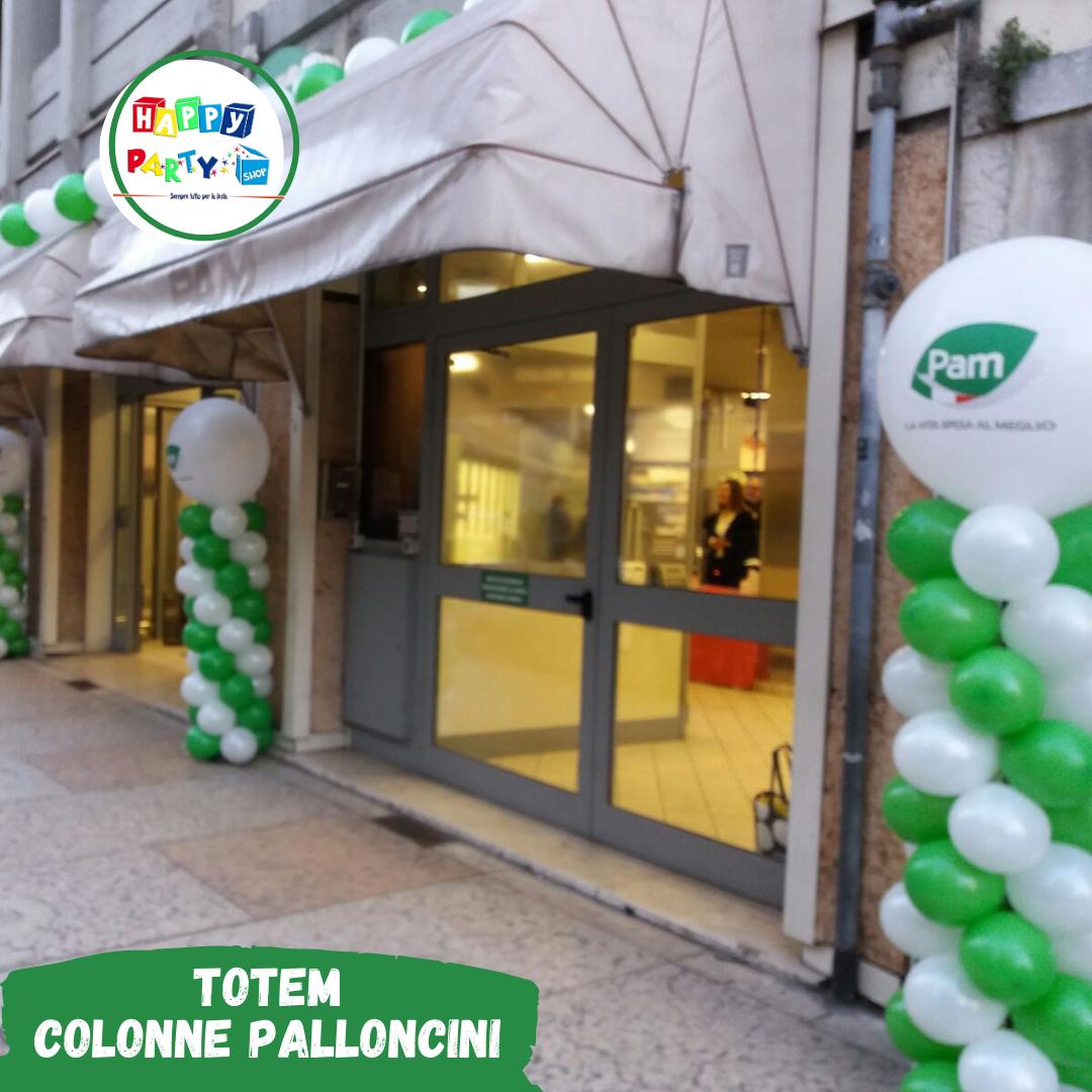colonne di palloncini totem colore verde
