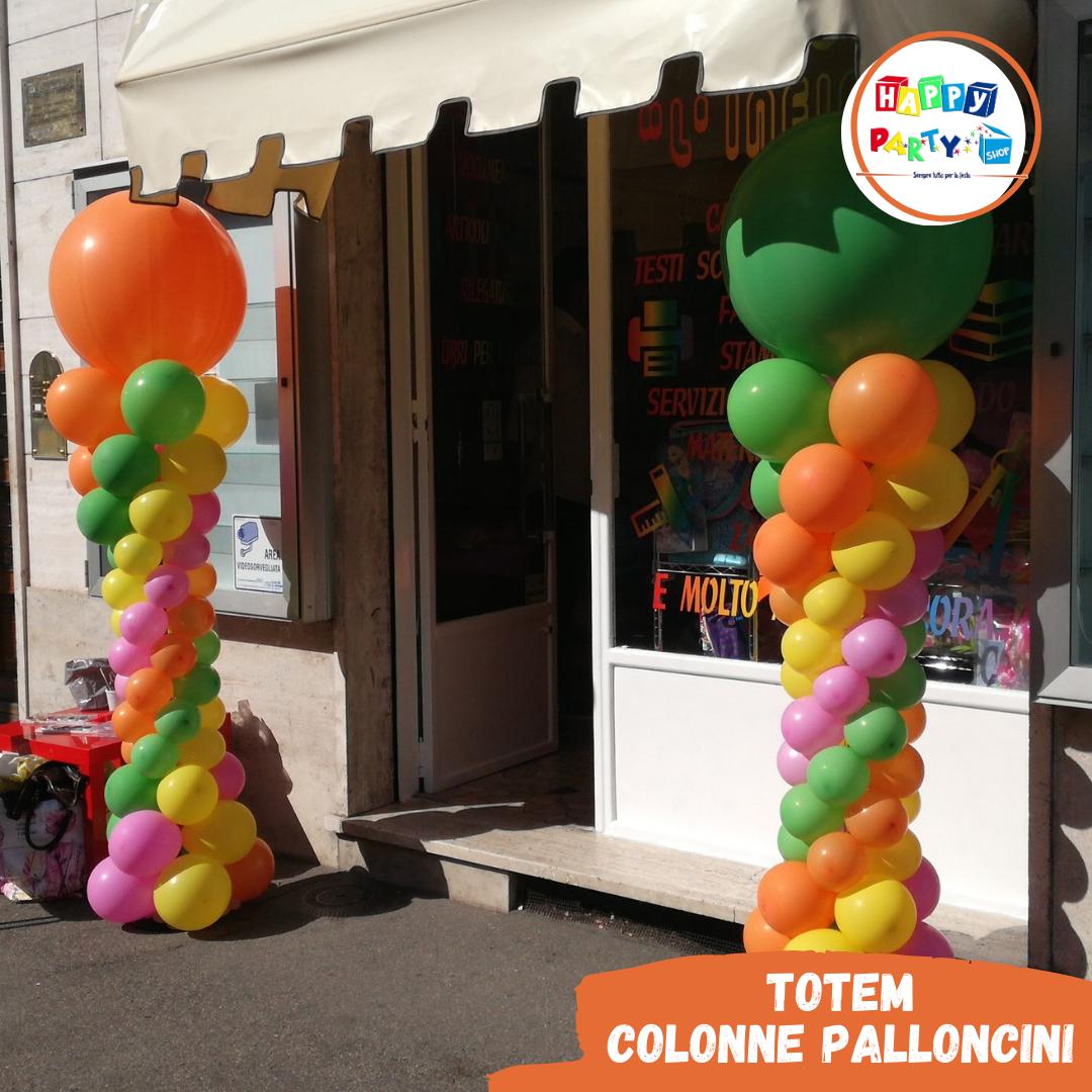 colonne di palloncini totem multicolor