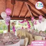 allestimenti palloncini prima comunione rosa